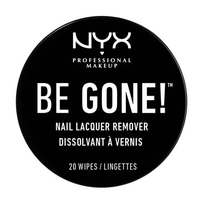 TOALLITAS QUITAESMALTE DE UÑAS BE GONE! NAIL LACQUER REMOVER WIPES