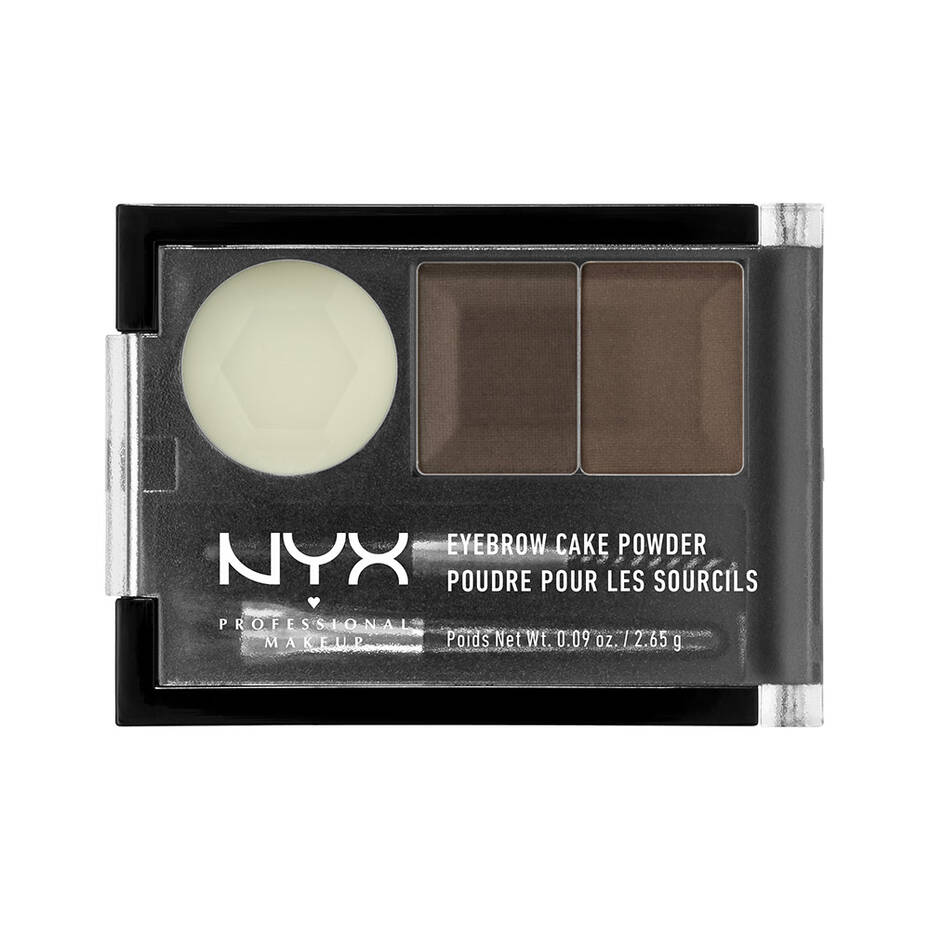 Fijador De Cejas Eyebrow Cake Powder NYX Professional Makeup Dark Brown/ Brown